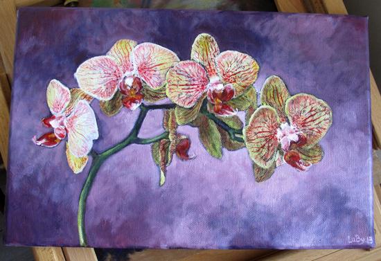 Toile orchidées