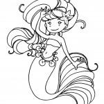 Sirène à colorier