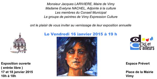 Invitation Vimy 2015